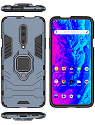 cheap -Case For OnePlus One Plus 7 / One Plus 7 Pro Ring Holder Full Body Cases Solid Colored / Armor Hard PC