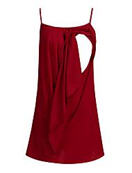 cheap -Women's Maternity Above Knee Tunic Dress - Sleeveless Black Blue Red Green S M L XL XXL XXXL