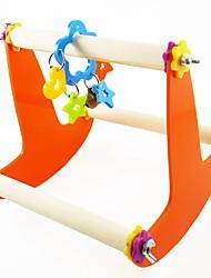 cheap -Bird Perches & Ladders Pet Friendly Focus Toy Felt / Fabric Toys Parrot Wood 24 cm