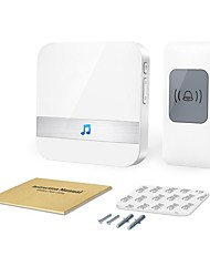 cheap -Wireless Doorbell Chime Max 1000-feet Range with 52 Ringtones Garage Door Bell Flashing Light Hint 1 Remote Button and Plug-in Receiver No Batteries Required White