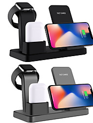 cheap -Wireless Charger Multi-function 3 in 1 Mobile phone Watch Headset Dock Fast Charger for Apple iPhone/ iWatch/ AirPods Pro/iPhone 11/ 11 Pro/11 Pro Max and Other Android Smart Phones