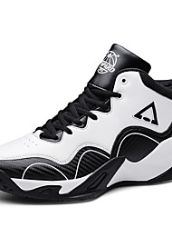 cheap -Men's Comfort Shoes Faux Leather Spring / Fall Sporty Athletic Shoes Basketball Shoes Non-slipping Black / Black and White / Black / Red / Shock Absorbing / Wear Proof