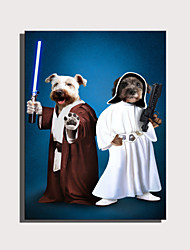 cheap -E-HOME Stretched Canvas Art Cute Animal Series - Star Trek Dog Decoration Painting  One Pcs