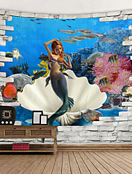 cheap -Beach Theme / Classic Theme Wall Decor 100% Polyester Mediterranean / Modern Wall Art, Wall Tapestries Decoration