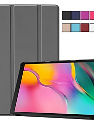 cheap -Case For Samsung Tab A 10.1(2019)T510 Magnetic / Ultra-thin / Flip Full Body Cases Solid Colored Hard PU Leather for Samsung Tab A 10.1(2019)T510 / Tab S4 10.5 (2018) / Tab A2 10.5(2018) T595