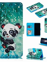 cheap -Case For Apple iPhone XS / iPhone XR / iPhone XS Max Wallet / Card Holder / Shockproof Full Body Cases Cartoon / Panda Hard PU Leather