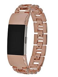 Недорогие -Ремешок для часов для Fitbit Charge 2 Fitbit Дизайн украшения Нержавеющая сталь Повязка на запястье