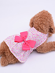 cheap -Dress Dog Clothes Purple Blue Pink Costume Baby Small Dog Polyester Jacquard Bowknot Bow Cute XS S M L XL