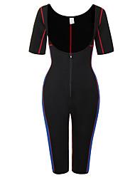 cheap -Men's / Women's Zipper Overbust Corset - Solid Colored / Fashion, Lace / Sporty / Stylish Blue Black XL XXL XXXL