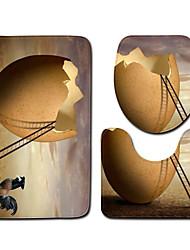 cheap -1 set Classic Bath Mats 100g / m2 Polyester Knit Stretch Creative / Novelty Non-Slip / New Design