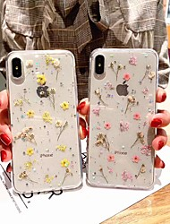 cheap -Floral Case for Apple iPhone 12 Pro Max 11 Pro Max Translucent TPU Mobile Phone Case Shockproof Clear Back Cover for iPhone X/XS XR XS Max 7 Plus/8 Plus SE2020