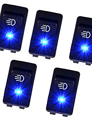 Недорогие -5 шт. / Компл. Квадратной формы синий светодиодный выключатель для мотоциклов автомобили лодки