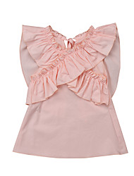 cheap -Baby Girls' Basic Dusty Rose Solid Colored Sleeveless Cotton Dress Blushing Pink / Toddler