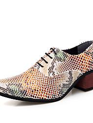 Недорогие -Муж. Официальная обувь Печать Оксфорд Платья Весна / Осень Деловые / Английский Свадьба Для вечеринки / ужина Туфли на шнуровке Для прогулок Кожа Нескользкий Высота возрастающей