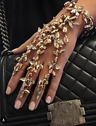 abordables -Bracelets Bagues Femme Géométrique Multicolore Imitation Diamant Flower Shape Gros Fantaisie Elégant Européen Bracelet Bijoux Noir Dorée Argent pour Quotidien Fête de Mariage