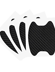 cheap -4PCS/Set Car Stickers Door Handle Carbon Fiber Scratch Proof Protective Membrane