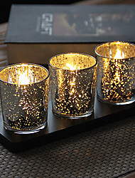cheap -Classic Theme Candle Favors - 3 pcs Candle Holders Gift Box All Seasons