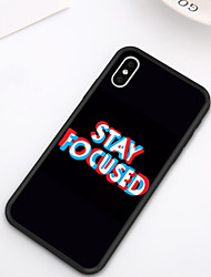 cheap -Case For iPhone XS Max XR XS X Back Case Soft Cover TPU Stylish simple style creative text pattern Soft TPU for iPhone 8 Plus 7 Plus 7 6 Plus 6 8