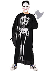 cheap -Skeleton / Skull Cosplay Costume Masquerade Adults' Men's Cosplay Halloween Christmas Halloween Carnival Festival / Holiday Polyster White / Black / Red Carnival Costumes Skull Printing