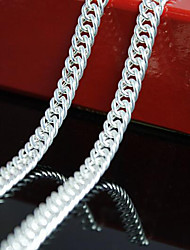 cheap -Men's Chain Necklace Chains Braided Mariner Chain Classic Fashion Copper Silver Plated Silver 56 cm Necklace Jewelry 1pc For Daily Work