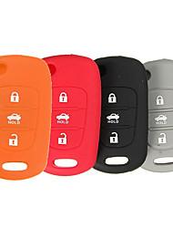 Недорогие -3 кнопки силиконовый чехол для ключа брелок протектор крышка для Hyundai Santa