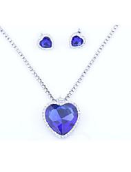 cheap -Women's Bridal Jewelry Sets Classic Heart Sweet Cute Earrings Jewelry Blue For Wedding Gift 1 set