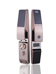 cheap -Automatic intelligent lock Fingerprint lock security door household password lock semiconductor zinc alloy red bronze remote control APP
