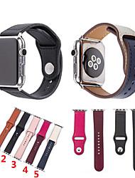 Недорогие -ремешок для часов из натуральной кожи для часов Apple серии iwatch 1 2 3 4