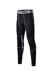 cheap -Men's Running Compression Pants Athletic Base Layer Compression Clothing Tights Seamless Fitness Gym Workout Running Tummy Control Breathable Quick Dry Plus Size Sport Black Green Gray Geometry