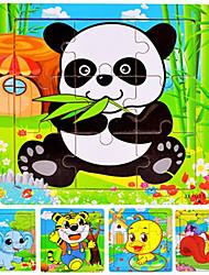 abordables -Puzzle Puzzles en bois Jouet Educatif Ours Panda Animal marin Animaux En bois Dessin Animé Unisexe Jouet Cadeau