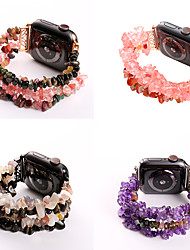 abordables -Four Rows Original stone Smartwatch Band for Apple Watch Series 5/4/3/2/1 iwatch Strap