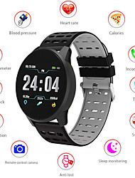 cheap -B2C 1.3inch Touch Screen Smart band Heart Rate Blood Pressure Oxygen Monitor Round Dial Sport Modes Waterproof Smart wristband