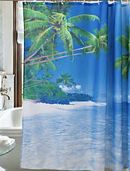 cheap -Shower Curtains Casual Polyester Machine Made Waterproof Bathroom