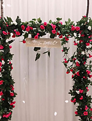 cheap -Artificial Flower Plastic Wedding Vine Wall Flower Vine 1 Bouquet 220cm