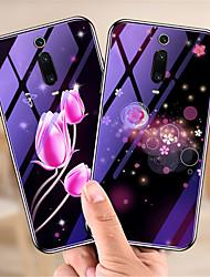 Недорогие -Кейс для Назначение Xiaomi Xiaomi Redmi Note 7 / Xiaomi Redmi Note 7 Pro / Xiaomi Redmi 7 С узором Кейс на заднюю панель Животное / Цветы Твердый Закаленное стекло