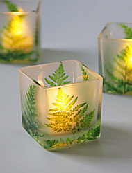 cheap -Green Leaf Glass Candlestick Desktop Decoration Wedding Decoration