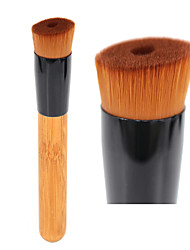 cheap -Professional Liquid Foundation Makeup Brush Angled Perfecting Face Brush for Primer Base Cream Buffing Blending Beauty Tool