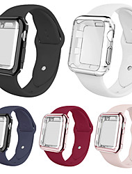 cheap -Smartwatch Band Cases for Apple Watch Series 5/4/3/2/1 Apple Silicone Band Silicone Cases iwatch Fashion Soft Sport Strap