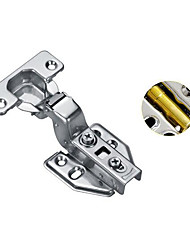 cheap -Large curved stainless steel cabinet door buffer damping hydraulic fixed hinge wardrobe pipe spring aircraft hinge hardware