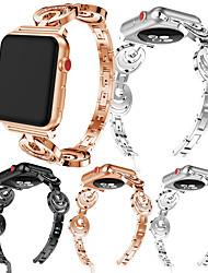 cheap -Metal Stainless Steel Watch Band Wristband Wrist Strap for Apple Watch Series 4/3/2/1 Rhinestone Bracelet straps