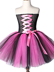cheap -Rock Star Tutu Dress Knee-Length Girls Birthday Party Tulle Kids Halloween Costumes 2-12Y