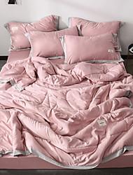 abordables -Confortable - 1 Couvre-lit Printemps & Automne Polyester Couleur Pleine