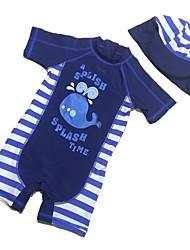 abordables -Enfants Garçon Imprimé Imprimé Maillot de Bain Bleu