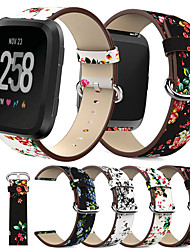 cheap -Peony Print for Fitbit Versa Replacement Watch Accessories Wristbands