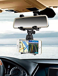 cheap -Car Rearview Mirror Mount Phone Holder 360 Degree Adjustable Cell Phone Holder