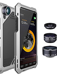 cheap -Shockproof Metal Case Back Cover with 3 Camera Lens for iPhone X 7/8 7/8 Plus