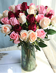 cheap -Artificial Flowers 1 Branch Classic Wedding Simple Style Roses Eternal Flower Tabletop Flower
