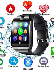 Недорогие -Смарт-часы Q18S мужчины поддерживают TF SIM-карту Push-сообщение ответ вызов фитнес-трекер Bluetooth SmartWatch для Android телефон