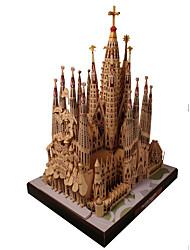 Недорогие -3D пазлы Бумажная модель Наборы для моделирования Знаменитое здание Церковь Своими руками моделирование Плотная бумага Классика Детские Универсальные Мальчики Игрушки Подарок