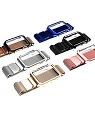 Недорогие -для яблочного ремешка 1/2/3/4 поколения часы из нержавеющей стали металлическая коробка миланская магнитная полоса всасывания 38/40/42/44 мм